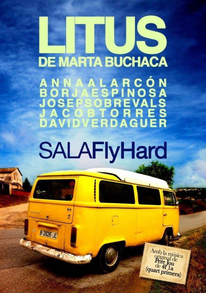 Cartell de l'espectacle Litus a la Sala Flyhard.