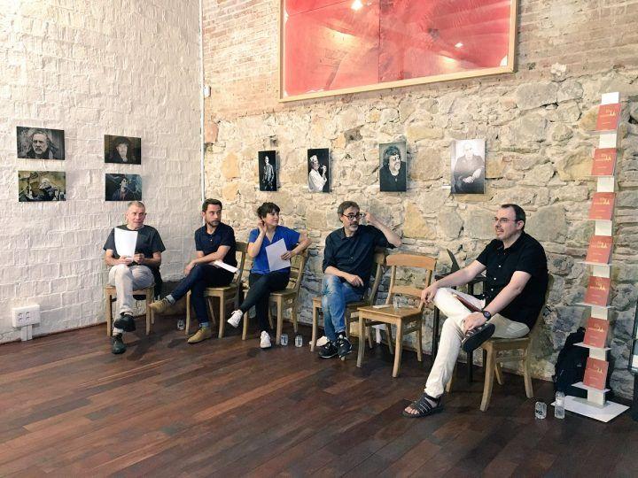 Presentació d'Els encantats a l'Editorial Comanegra